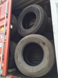 used truck tyres container