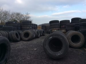 Part worn truck tyres